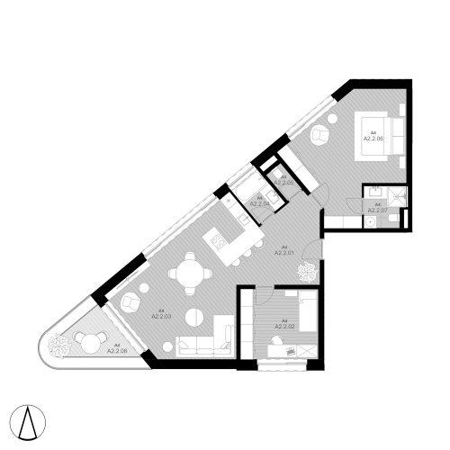 A4 Apartmán A2.2 (predané)