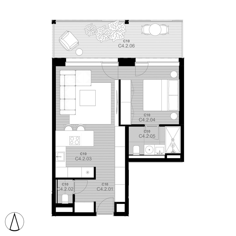 C10 Apartmán C4.2 - rezidencia K Železnej Studienke