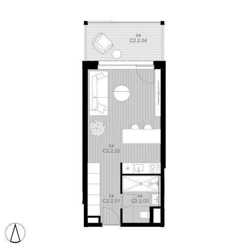C4 Apartmán C2.2 (predaný)