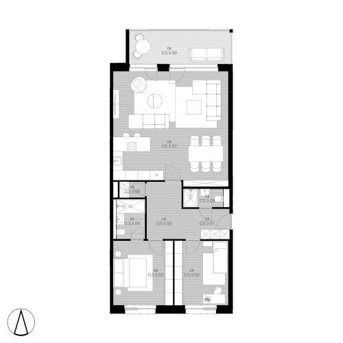 C8 Apartment C3.3