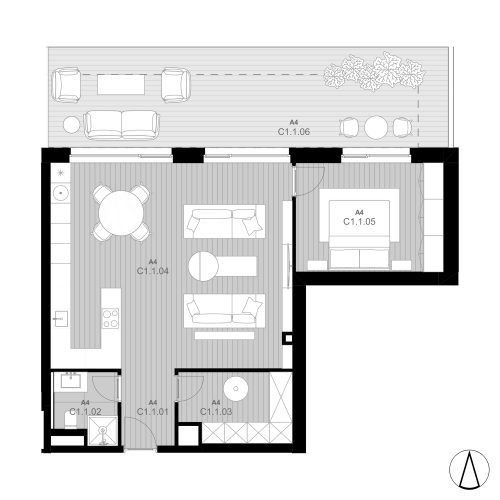 C1 Apartmán C1.1