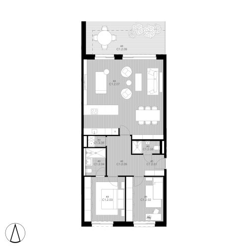C2 Apartmán C1.2 (predaný)