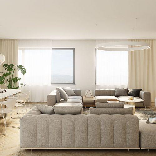 rezidencia K Železnej Studienke vizualizácia bytu 3
