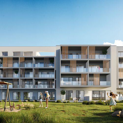 vizualizácia rezidencie K Železnej Studienke - pohľad zachytený zo zadnej strany 2